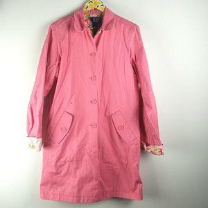 Crazy Horse Liz Claiborne Pink Floral Coat Sz L